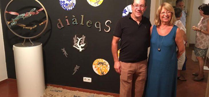 """""""Diàlegs"""" exposició a la galeria Artara amb Tónia Pérez"""